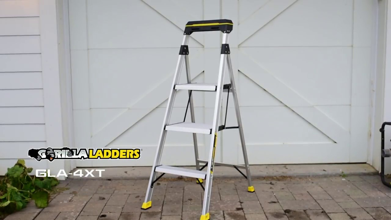 Gorilla Ladders 4 5 Ft Hybrid Ladder With Flip Tray