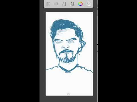 Scribble- Bearded face with Sketchbook Pro