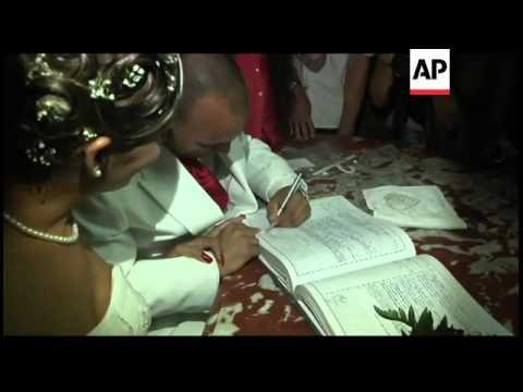 Gay man, sex-change woman in island''s first transgender wedding