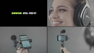 Shure Portable Videography Bundle - Earphones + Video Kit with Digital Stereo Condenser Microphone