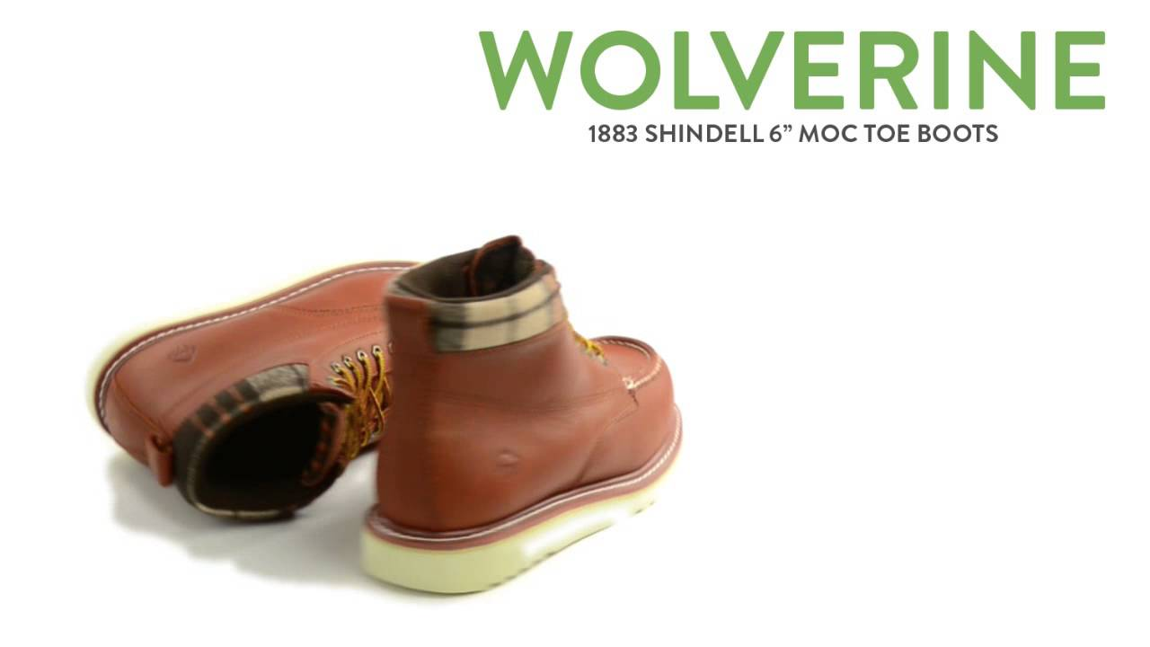 """636916a33f3 Wolverine 1883 Shindell Moc Toe Boots - 6"""" (For Men)"""