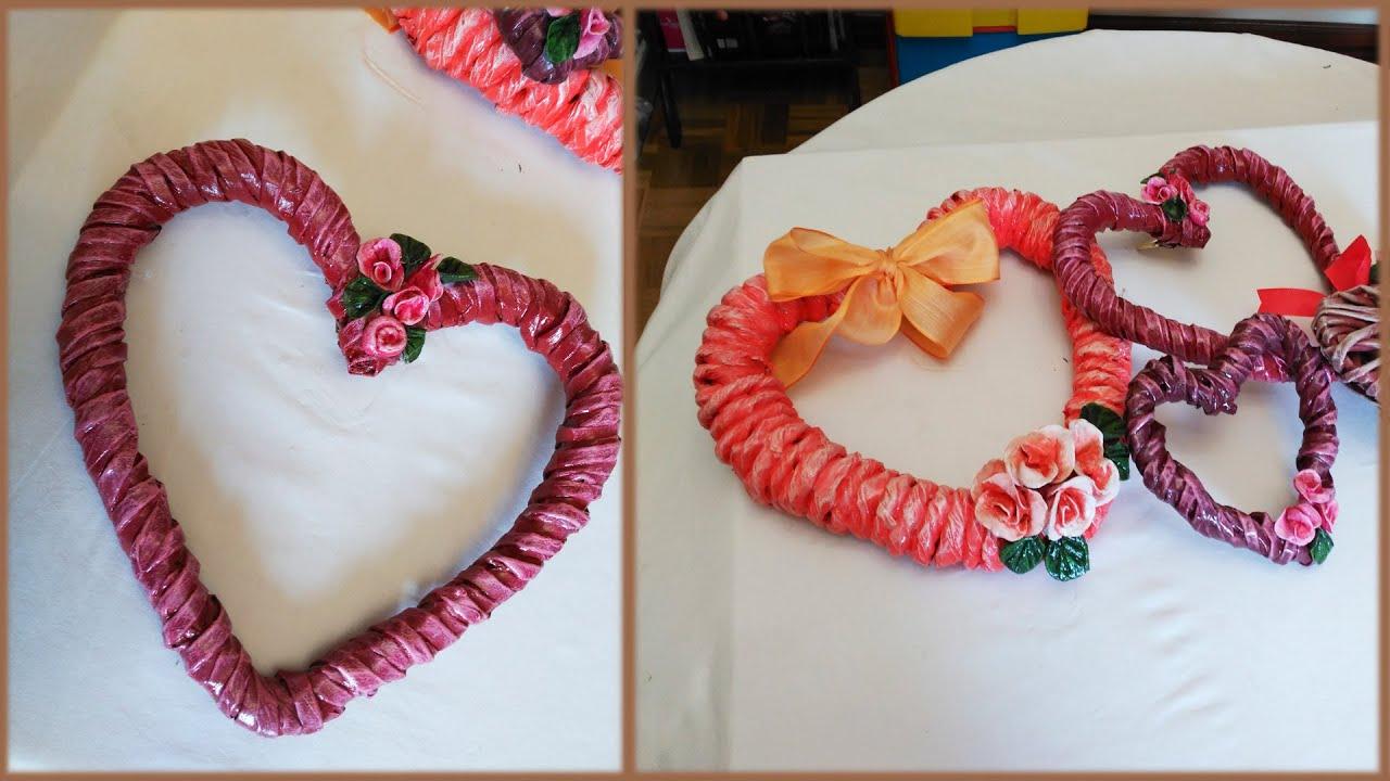 Diy corazon de papel reciclado dia del amor paper - Manualidades de papel reciclado ...