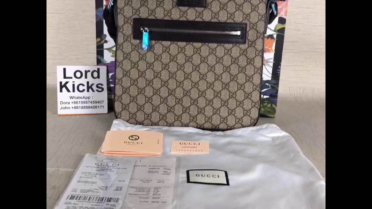 423e67c817e Gucci Messenger Bag Unboxing - YouTube