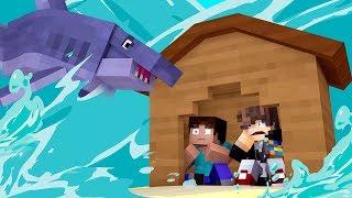 Minecraft: DESAFIO DA BASE 100 SEGURA CONTRA TUBARÃO GIGANTE ( MEGALODON ) ‹ JUAUM ›