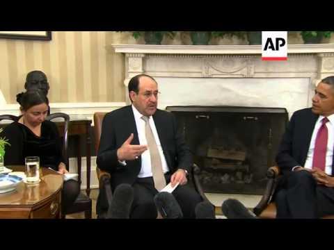 President Obama and Iraqi PM al Maliki hold talks; Protest outside White House
