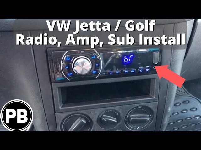 [WQZT_9871]  1999 - 2004 VW Jetta Bluetooth Radio, Amp, and Sub Install - YouTube | 2000 Vw Cabrio Radio Wiring |  | YouTube