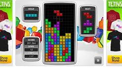 Playing Tetris - Score of 820,000 on level 25 (on tetris.com)