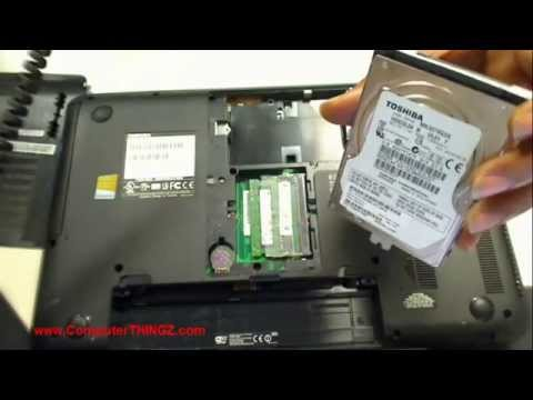 how to change hard drive on toshiba satellite laptop