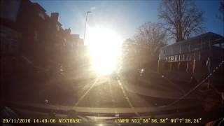 Sun blind driving Nottingham Mapperley Top