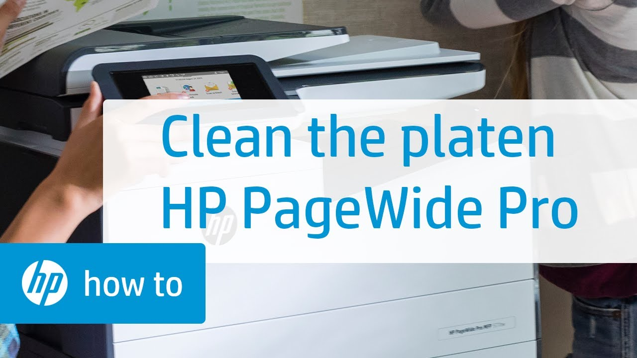 Cleaning the Platen on HP PageWide Pro Printers | HP Printers | HP