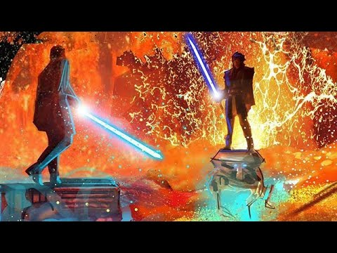 Star Wars Iii Revenge Of The Sith Anakin Vs Obi Wan What If Music Was 10 Times Better Youtube