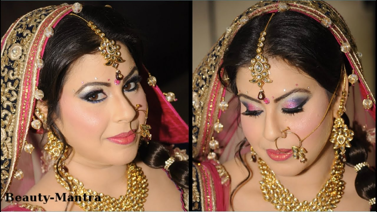 Hair Style Youtube In Hindi: Bridal Makeup And Hairstyle