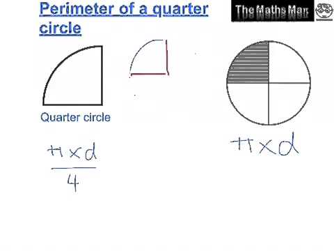 Area and perimeter of semi and quarter circles youtube ccuart Gallery