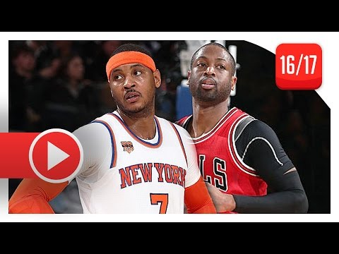 Carmelo Anthony vs Dwyane Wade All-Star Duel Highlights (2017.01.12) Knicks vs Bulls - SICK!