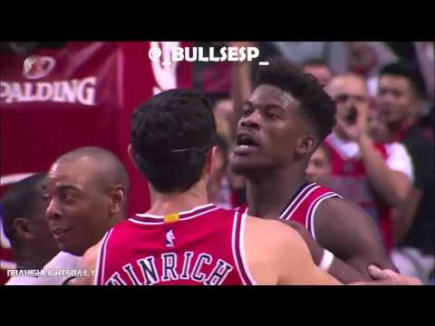 Jimmy Butler Fights Mason Plumlee | Chicago Bulls vs Portland Blazers