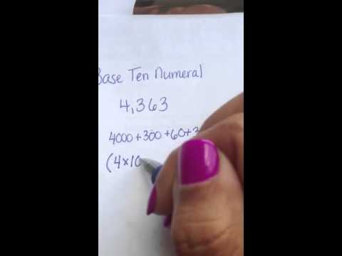Writing in Base Ten Numeral - YouTube