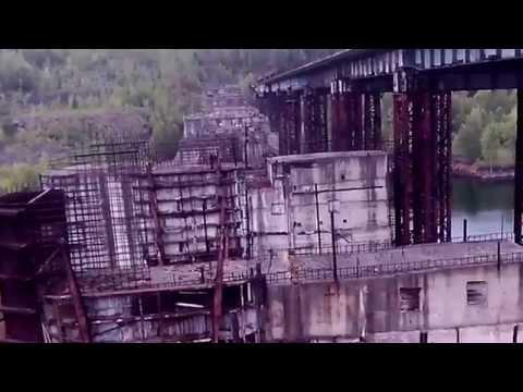 Обзор - поход ( сталк ) Крапивинский гидроузел.   Часть # 1 надземная часть гидроузла.