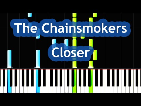 The Chainsmokers & Halsey - Closer Piano Tutorial