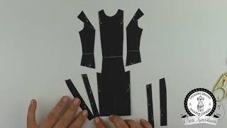 Моделирование платья из онлайн курса конструирования одежды