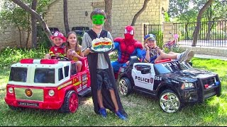 Little Heroes 9 - The Police Car, The Stealer, The Fire Engine and Spiderman