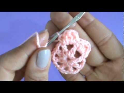 Como tejer flor sencilla circular ganchillo crochet youtube - Como hacer flores de ganchillo ...