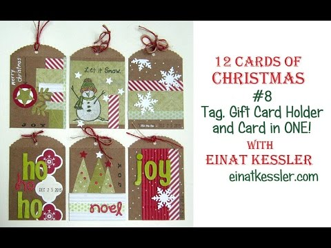 12 Cards of Christmas 2015 - #8 Card, Tag, Gift Card Holder in ONE!