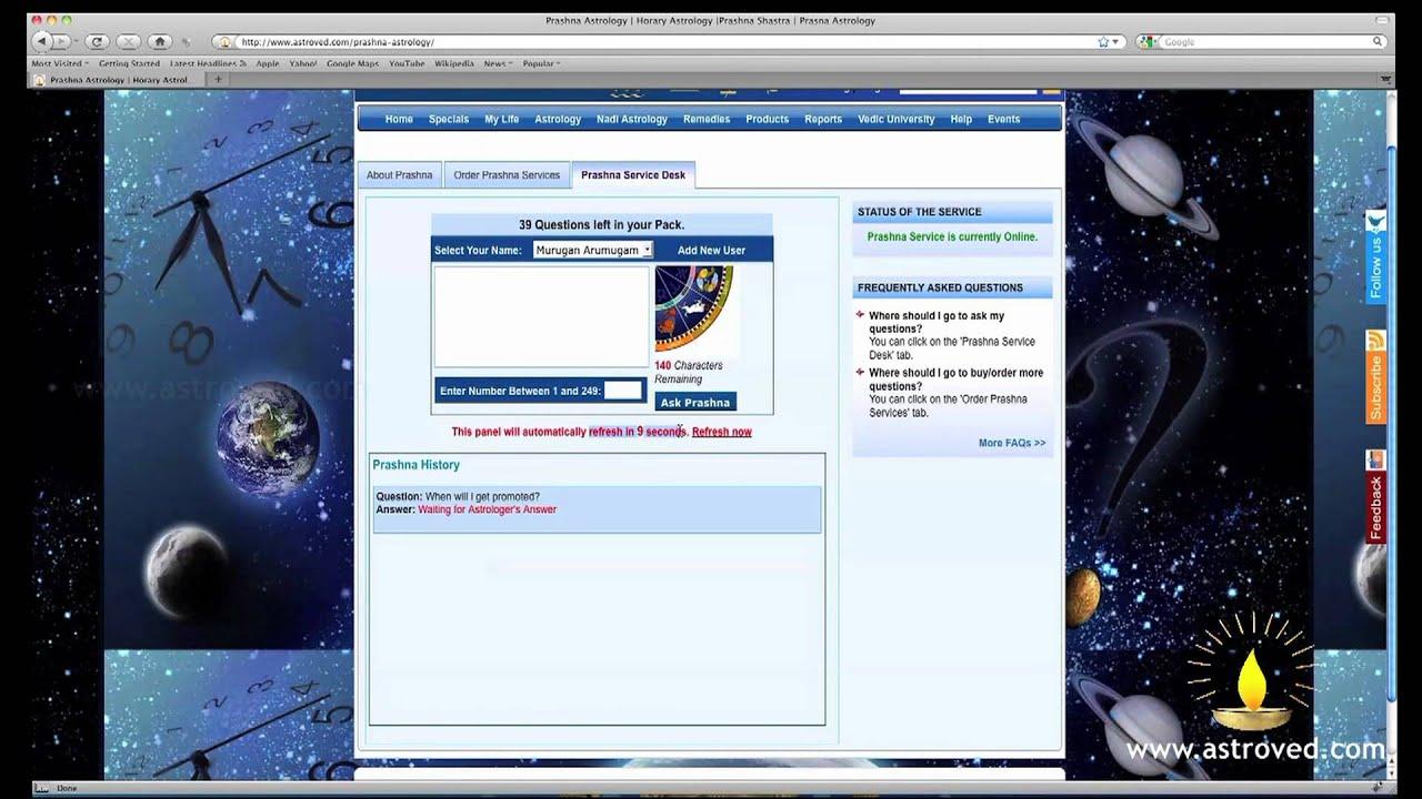Prasna Astrology & Reading, Prasna Astrology, Online Horary