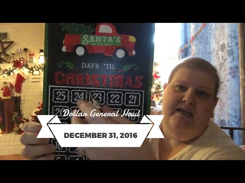 Dollar General Haul Christmas Clearance and Valentine's December 31, 2016