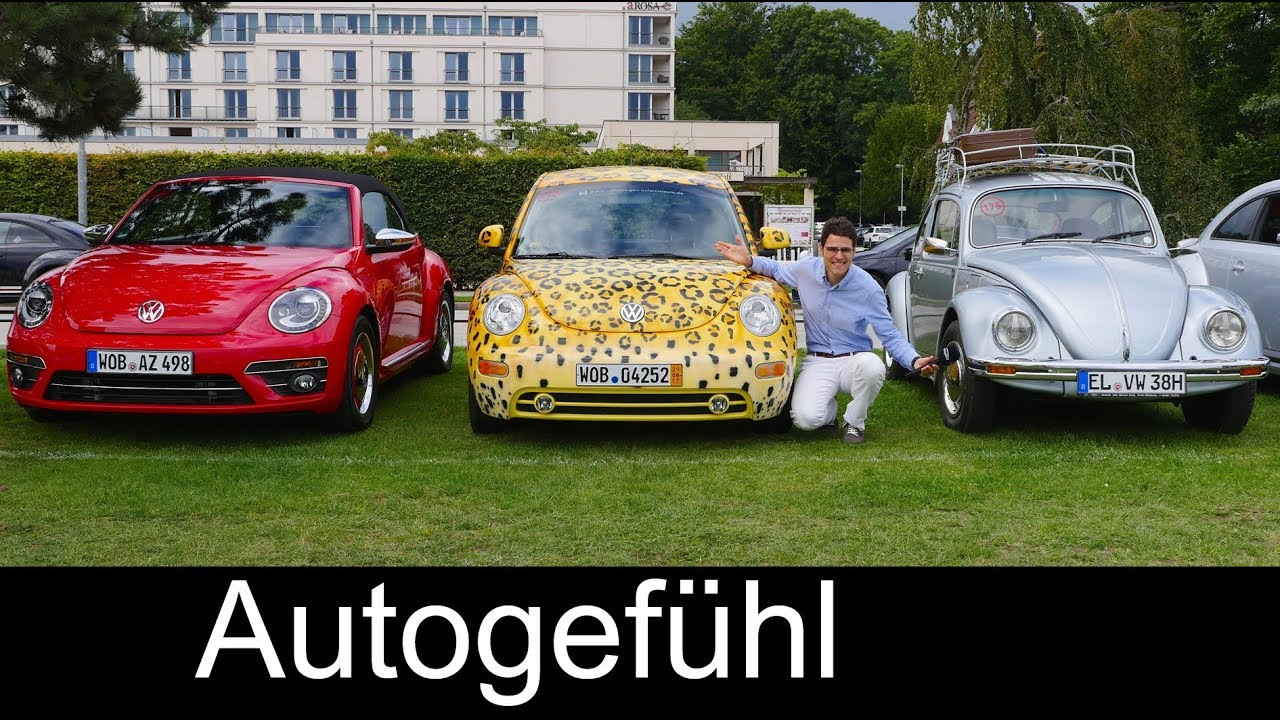 vw beetle comparison old vs new 3 generations full review volkswagen k fer youtube. Black Bedroom Furniture Sets. Home Design Ideas