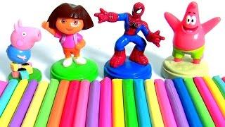 aprenda cores com play-doh stampers