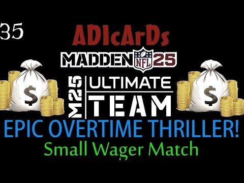 Madden 25 Ultimate Team | Thrilling OT FINISH! | Can Jerome Bettis SAVE the TEAM? | MUT 25
