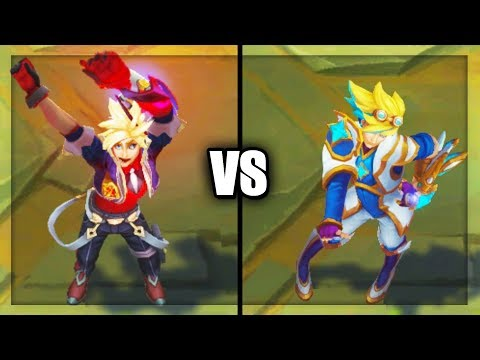 Battle Academia Ezreal vs Star Guardian Ezreal Legendary vs Epic Skins Comparison League of Legends