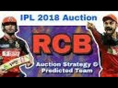 IPL auction 2018: Royal Challengers Bangalore