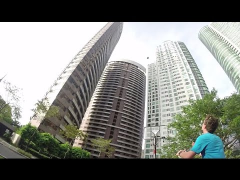 Catching Basketballs thrown from a 110m Building!