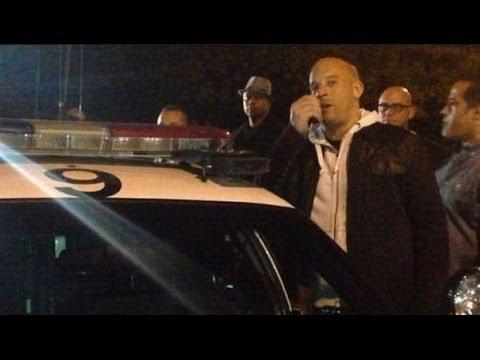 Video  Vin Diesel visita lugar del fatal accidente de Paul Walker