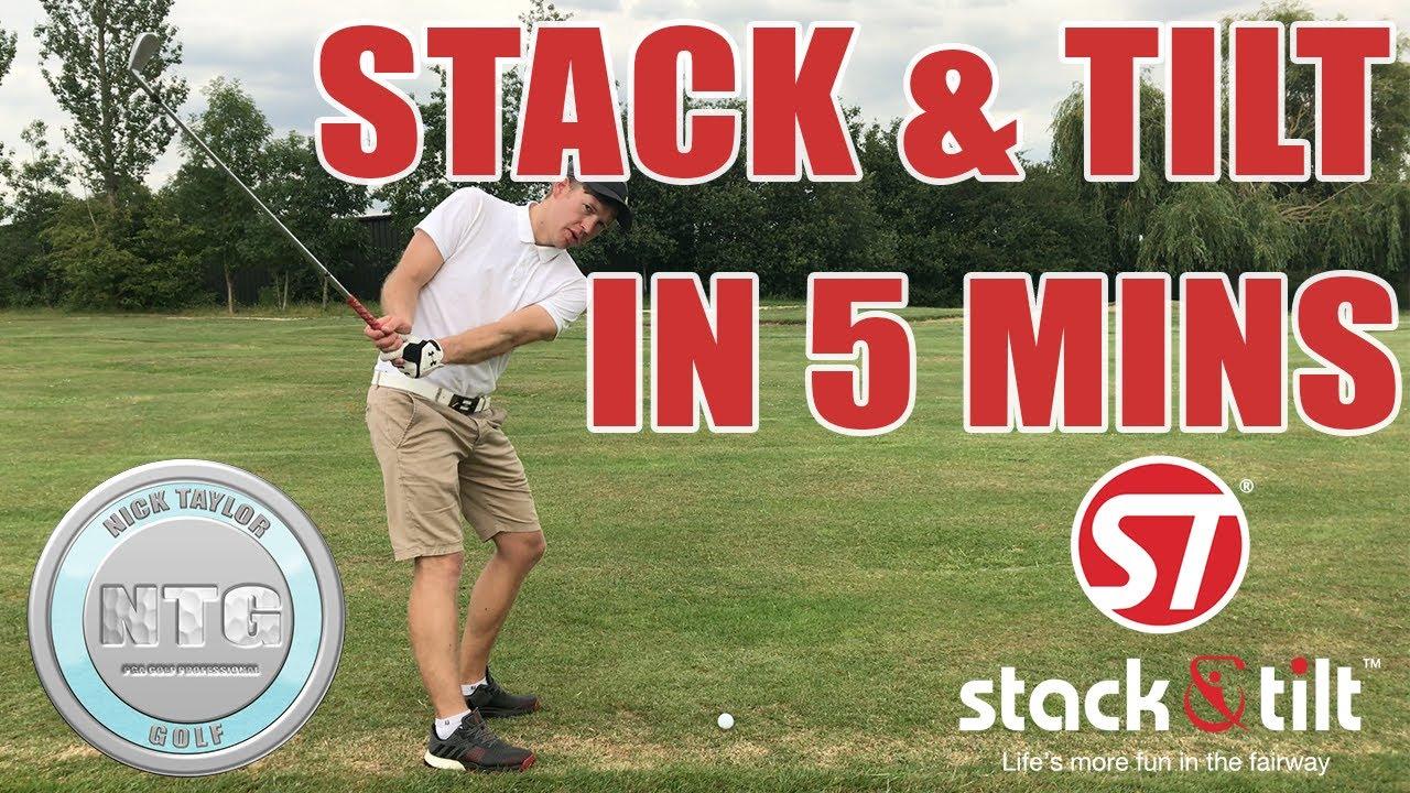 5 mins on the Stack & Tilt golf swing| Golf Tips | Lesson