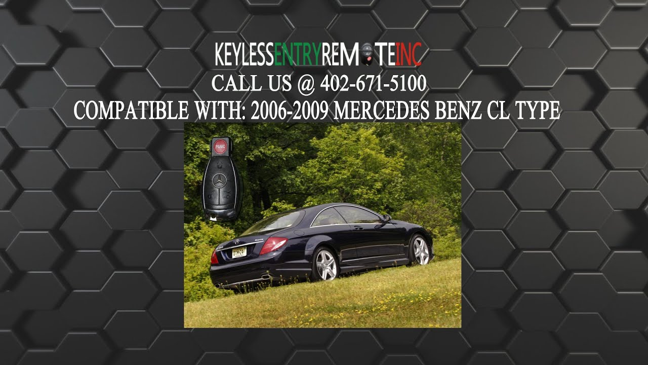 How to replace mercedes benz cl type key fob battery 2006 for How to change mercedes benz key battery