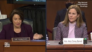WATCH: Barrett defends her position on the ACA, saying 'I have no animus' toward it