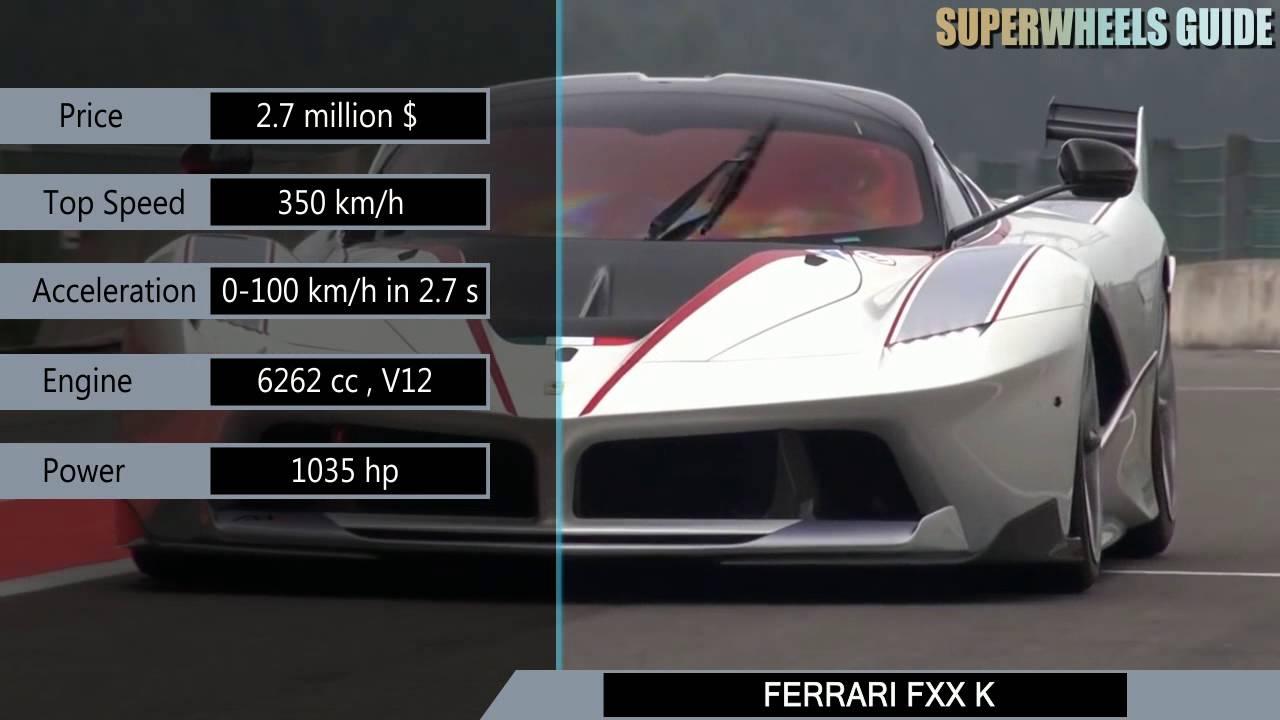 Ferrari Fxx K Vs Aston Martin Vulcan Specifications Youtube