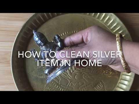 வெள்ளி சாமான்களை வீட்டில் சுத்தம் செய்வது | How to clean Silver items in home