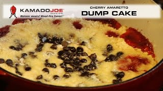 Kamado Joe Cherry Amaretto Dump Cake