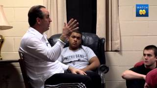 Coach Brey Visits Morrissey And Keough Halls