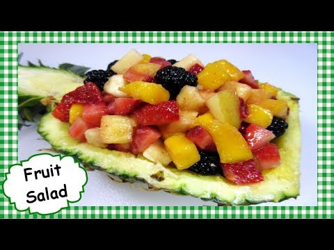 Fruit Salad with Creamy Coconut Dressing Recipe ~ Strawberry Pineapple Mango