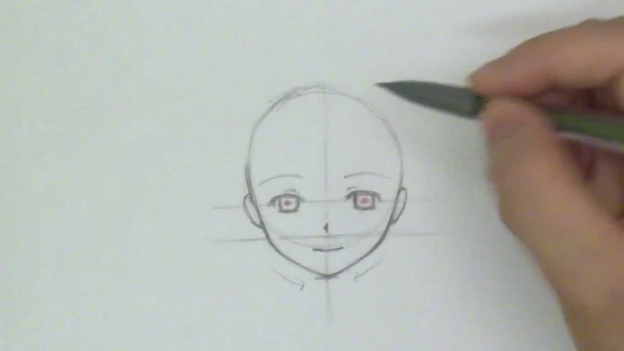 How To Draw A Manga Face Front View Reupload Youtube