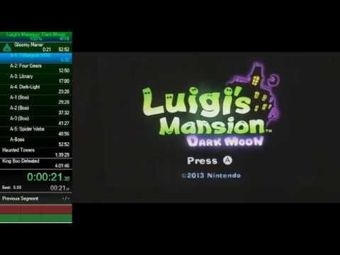 Luigi's Mansion 2: Dark Moon 100% Speedrun - 3:59:19 (WR)