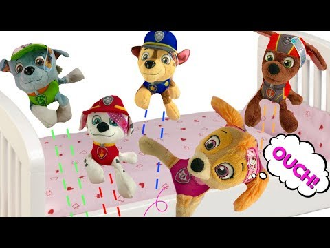 Fun Paw Patrol 5 Little Monkey on the Bed Nursery Rhymes Songs for Children