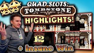 QUAD TOMBSTONE SLOT HIGHLIGHTS - INSANE WIN!!