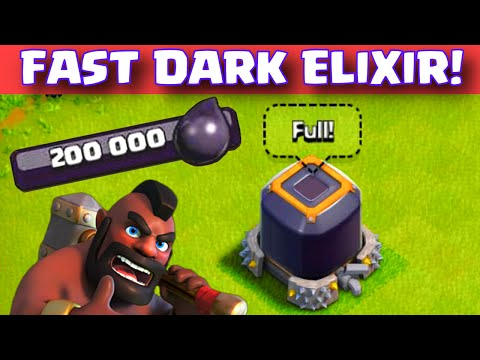 Clash of Clans HOW TO GET DARK ELIXIR FAST TH7/8/9/10 Easy Dark Elixir Farming