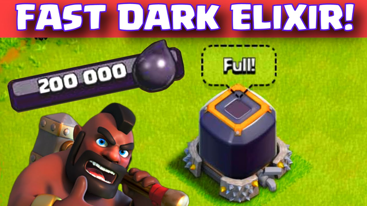 Clash Of Clans How To Get Dark Elixir Fast Th  Easy Dark Elixir Farming Youtube