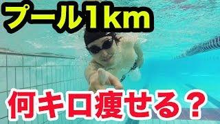 プール貸切って1km泳いだら何キロ痩せるのか?【ダイエット】
